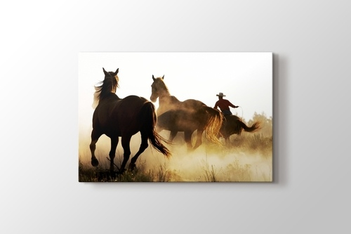 Picture of Cowboy and the Horses