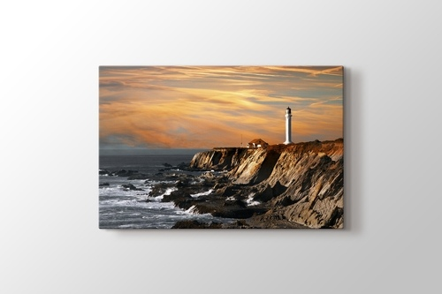 Picture of Lighthouse over Hills