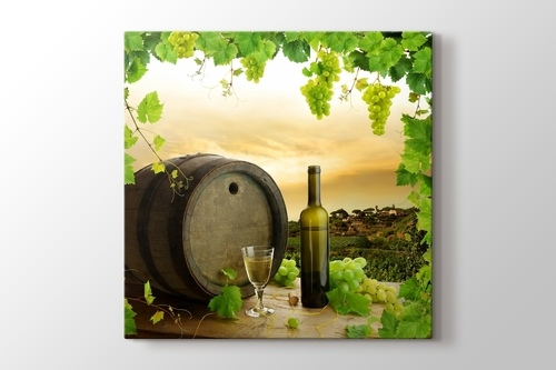 Picture of White Wine and Barrel