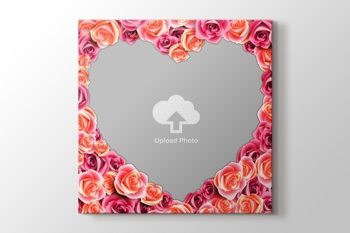 Picture of Pink Roses Photo on Canvas