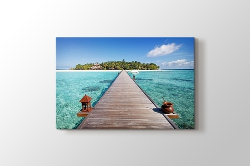 Picture of Maldives - Wooden Pathway