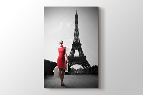 Picture of Red Dressed Woman