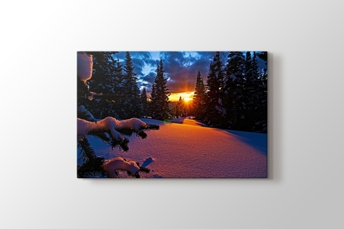 Picture of Colorado - Sunset and Snowy Mountain