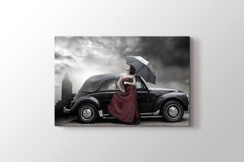 Picture of Woman with Umbrella