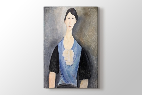 Picture of Young Woman in Blue