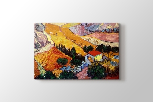 Picture of Landscape with House and Ploughman